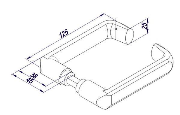 LHL012/Ручка нажимная/анод