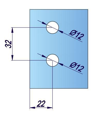 LHL070-1/Ответная часть на стекло/нерж. мат.