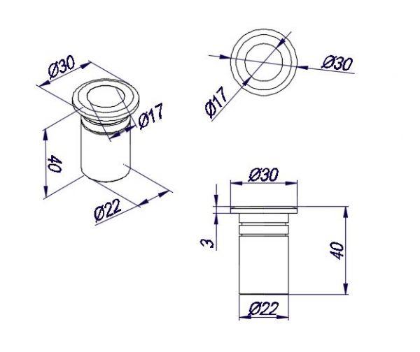 HDL1006/Ответная часть в пол для замка HDL150RD/нерж мат