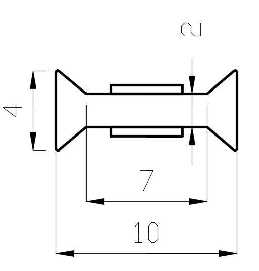 PCC14-3/10мм/Поликорбонатовый уплотнитель