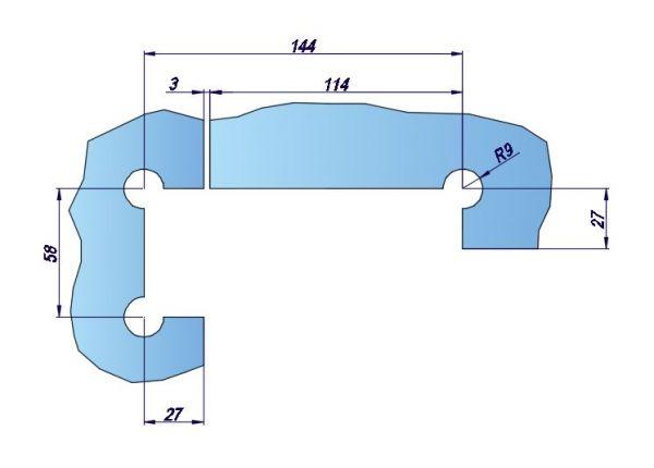 54000/Фитинг угловой с осью вращения/глянец