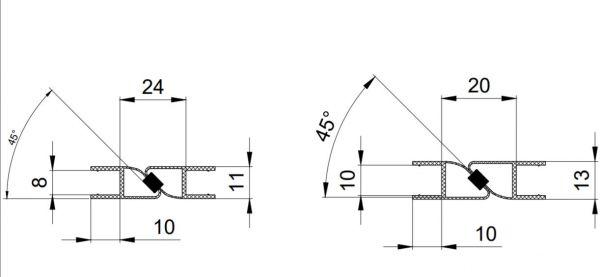 PS8M/8мм/2.5m/магнит белый/прозрачный силикон