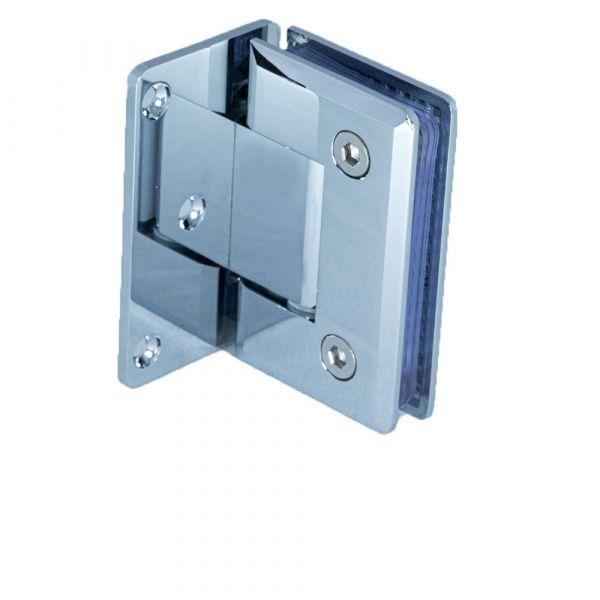 HDL305/глянец/Петля стена стекло c фиксацией