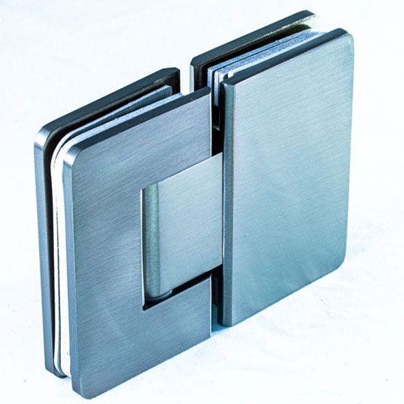 SH180АС/Петля стекло-стекло 180 градусов c регулируемым углом фиксации/мат.нерж