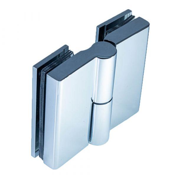 SH180S-R/Петля стекло-стекло c функцией подъёма без фиксации/правая/глянец