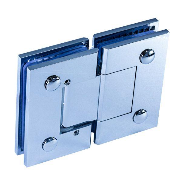 SH180BAD/глянец/Петля стекло-стекло 180 градусов c регулируемым углом фиксации