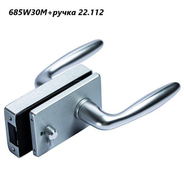 685W30M/Замок WC магнитный+отв. в коробку/анод