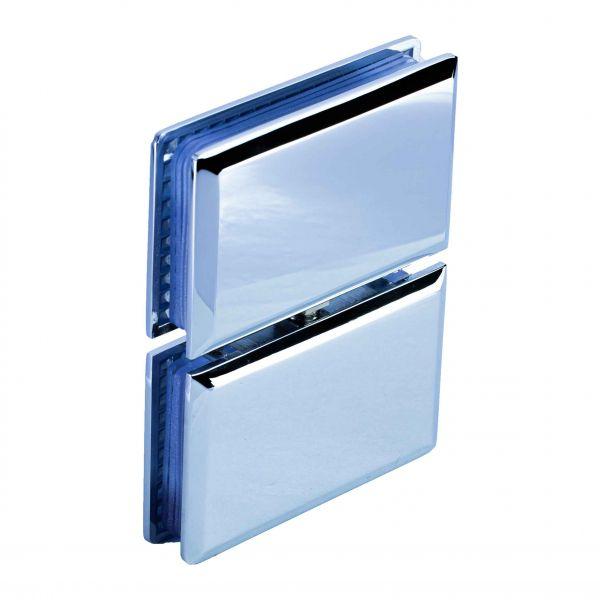 HDL309/глянец/Петля стекло стекло c фиксацией
