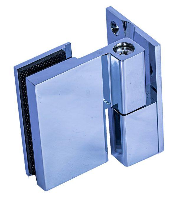 Z395302-R/CP.  Петля стена-стекло c функцией подъема, без фиксации /покрытие-ГЛЯНЕЦ (открывание - правое)