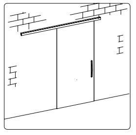 TLG213SF1/Комплект для раздвижной двери/одна створка на стену
