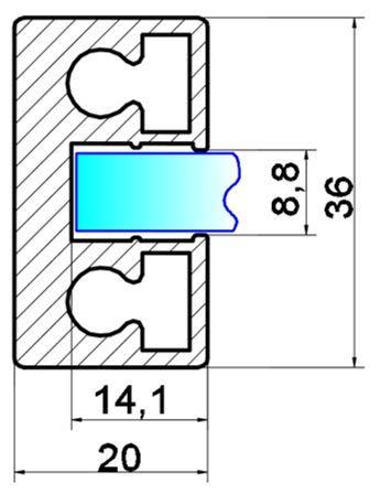 GS102/Профиль вертикальный