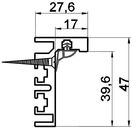 GS02/Коробка алюминиевая без наличника