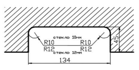 HDL150K/Ответная часть замка HDL-150D на стекло/глянец