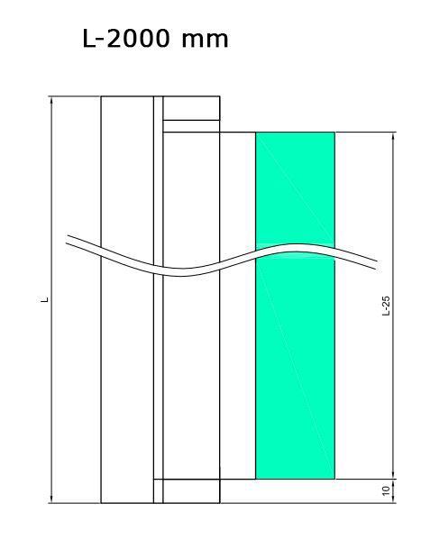 HDL3001/Петля профиль c функцией подъёма, без фиксации/ГЛЯНЕЦ