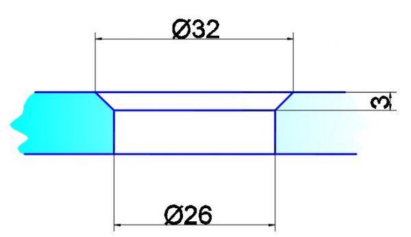 OFF1/6,5мм/под конус