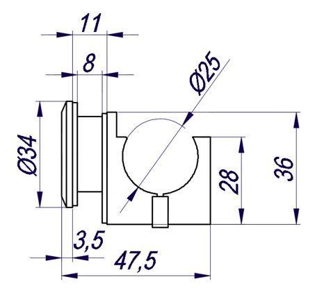 OFAW/Комплект фурнитуры на стекло/под отверстие