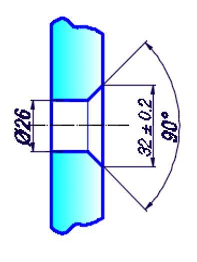 OFA3/крепление труба стекло/под конус