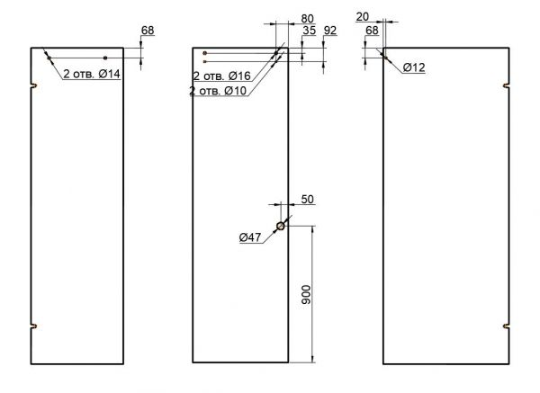 OFWS1/глянец/Комплект ф-ры  для раздвижной душ. кабины