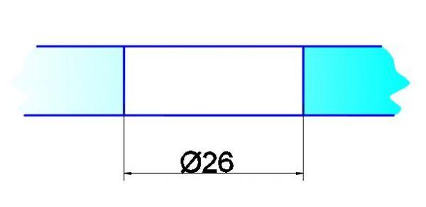 OFF1/6,5мм/под отверстие