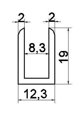 P02/8mm/глянец/алюминий