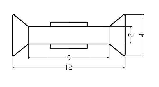 PCC18-3/12мм/Поликорбонатовый уплотнитель