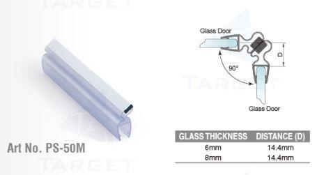 PS50M/8мм/магнит белый/прозрачный силикон