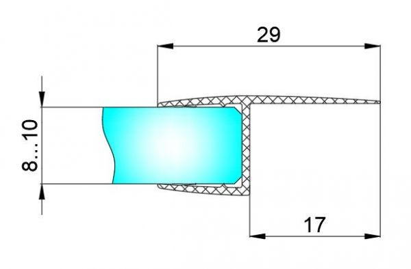 PS18C/8мм/2,5м/BLACK