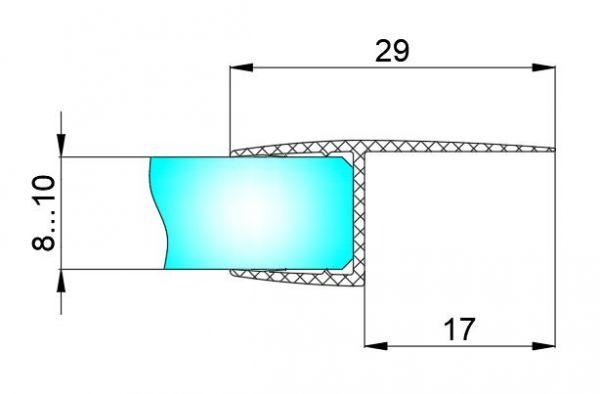 PS18C/10мм/2,5м/BLACK