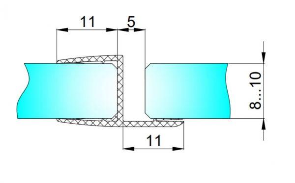 PS1-U/8мм-2,5/ультра прозрачный