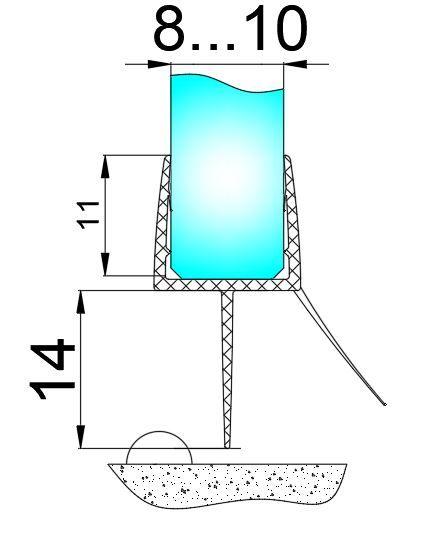 PS44-U/8мм-2,5/ультра прозрачный