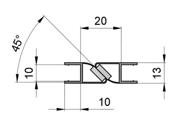 PS8M-U/10мм/2.5-магнит белый+ультра прозрачный силикон