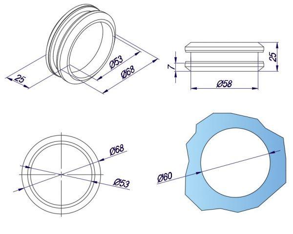 SF952/Ручка для раздвижной двери/глянец