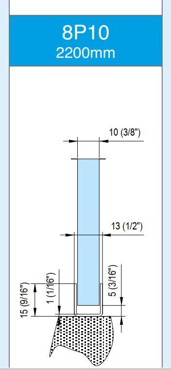 8P10/10mm/глянец/нержавейка