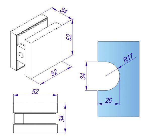 APF012/клампинг/нерж мат