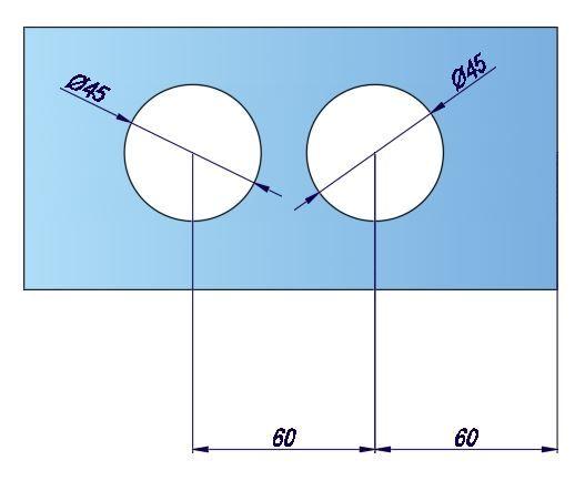 LHL052-1/Ответная часть на стекло/анод