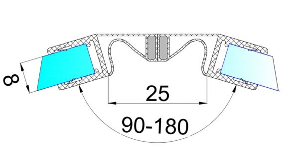 PS42M/8мм-2.5-магнит белый + прозрачный силикон