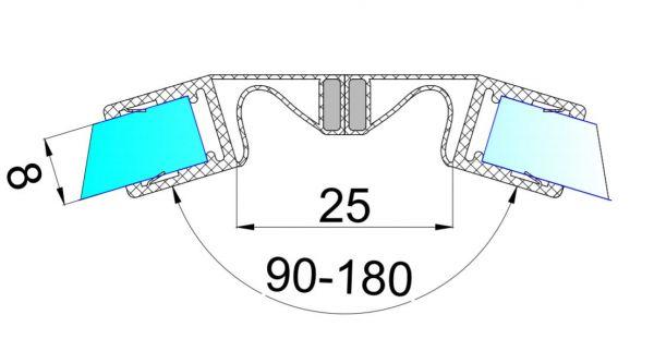 PS42M/8мм/2.5/магнит белый/ультра прозрачный силикон