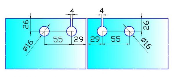 SW02T/Петля с роликом рядовая верхняя
