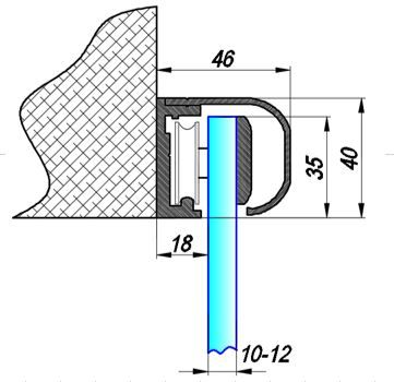 TLG213SF2/Комплект для раздвижной двери/две створки на стену
