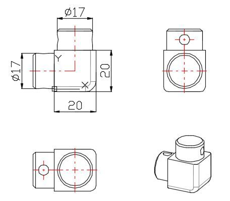 TT93C57/глянец/Угловое соединение порожка (20*20).