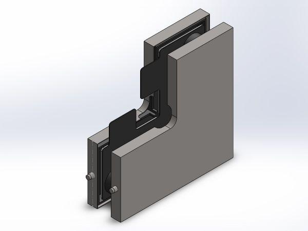 APF625/Фитинг угловой с стопором/глянец