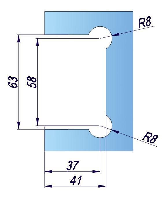 SHTB/глянец/петля стена стекло c фиксацией